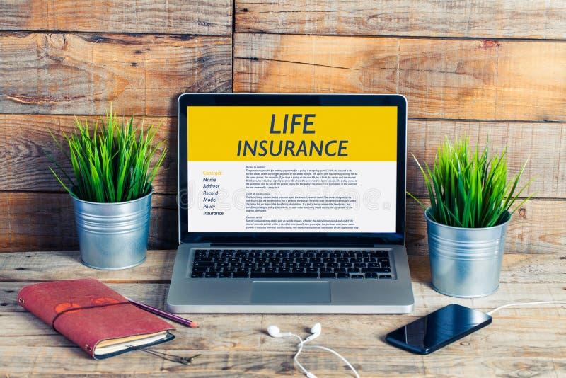 Conceito do seguro de vida foto de stock