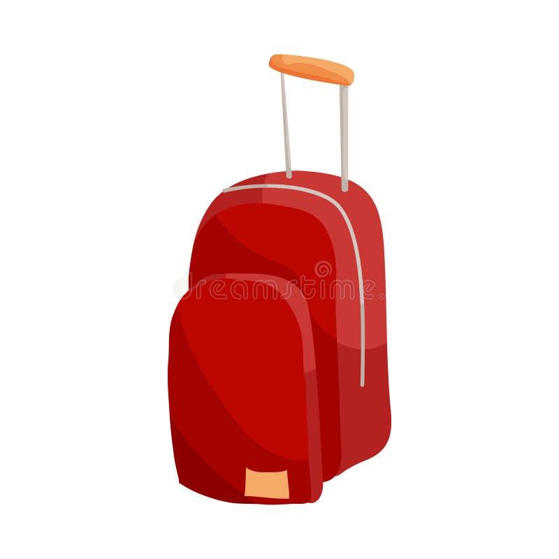 Conceito do seguro do curso Ícone da bagagem ilustração do vetor