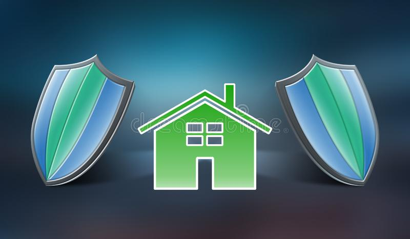 Conceito do seguro home ilustração stock