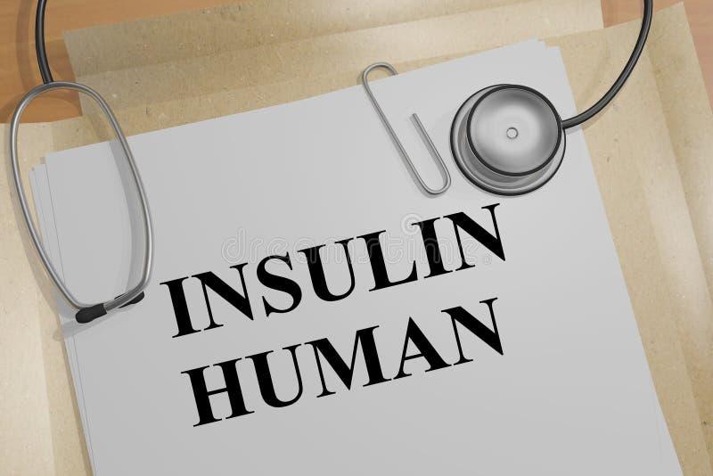 Conceito do ser humano da insulina ilustração stock