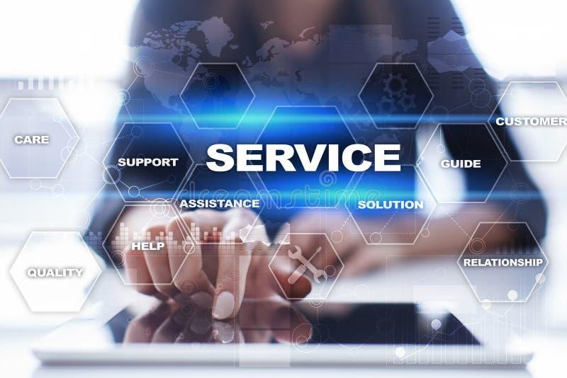 Conceito do serviço ao cliente e do relacionamento Conceito do negócio fotos de stock royalty free