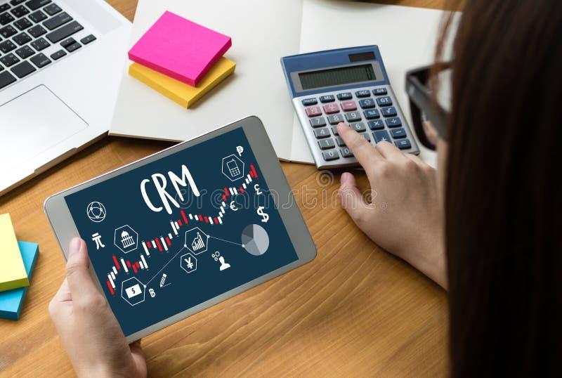Conceito do serviço da análise da gestão de CRM do cliente empresa, Cust fotos de stock royalty free