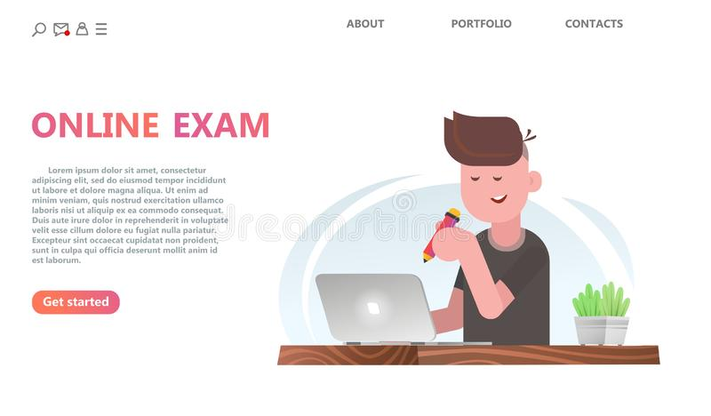 Conceito do serviço dos testes em linha ou do exame ilustração royalty free
