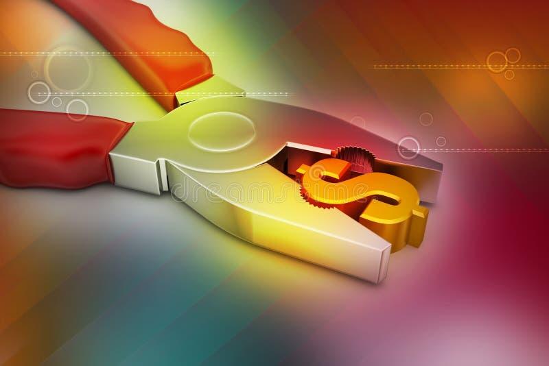 Conceito do serviço financeiro ilustração stock