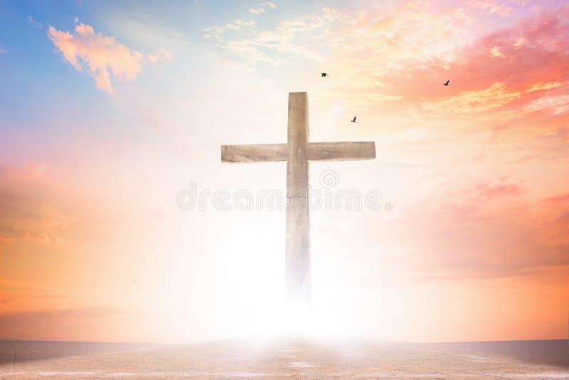 Conceito do Sexta-feira Santa: ilustração da crucificação de Jesus Christ no Sexta-feira Santa fotos de stock