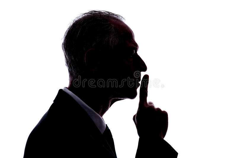 Conceito do silêncio imagem de stock royalty free
