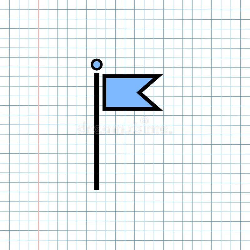 Conceito do sinal do ícone da navegação de GPS, projeto gráfico de vetor do navegador Symbol do sentido para o destino do curso , fotografia de stock
