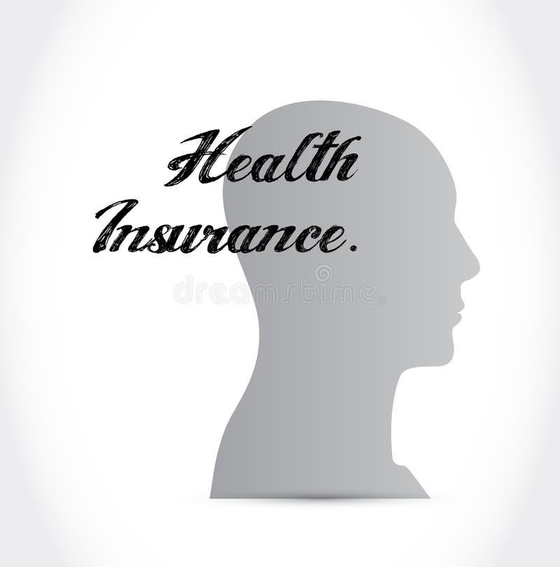 Conceito do sinal da mente do seguro de saúde ilustração stock