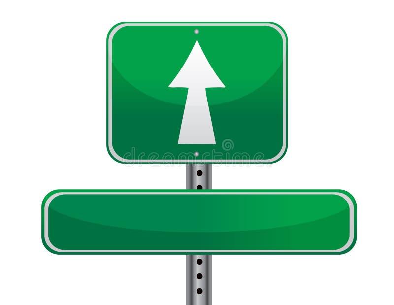 Conceito do sinal de estrada ilustração royalty free