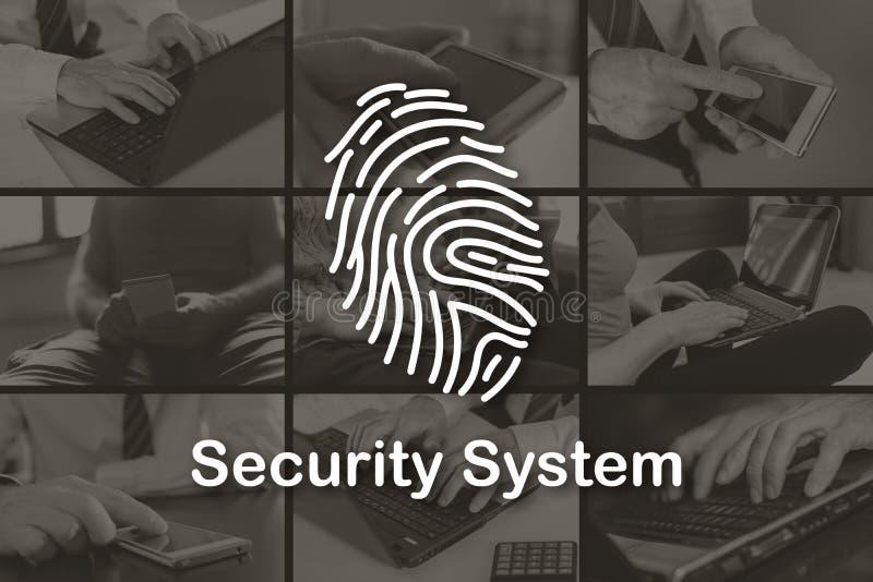 Conceito do sistema de segurança fotografia de stock