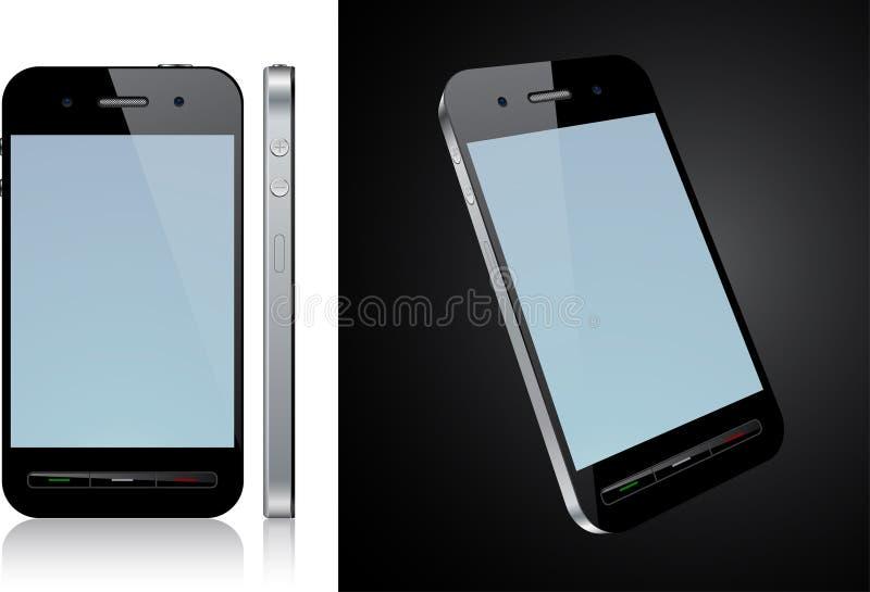 Conceito do smartphone do écran sensível. ilustração stock