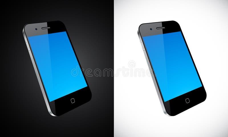 Conceito do smartphone do écran sensível. ilustração royalty free