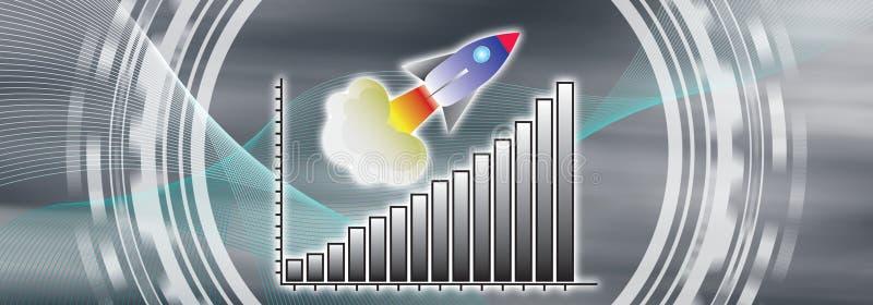 Conceito do sucesso comercial ilustração do vetor