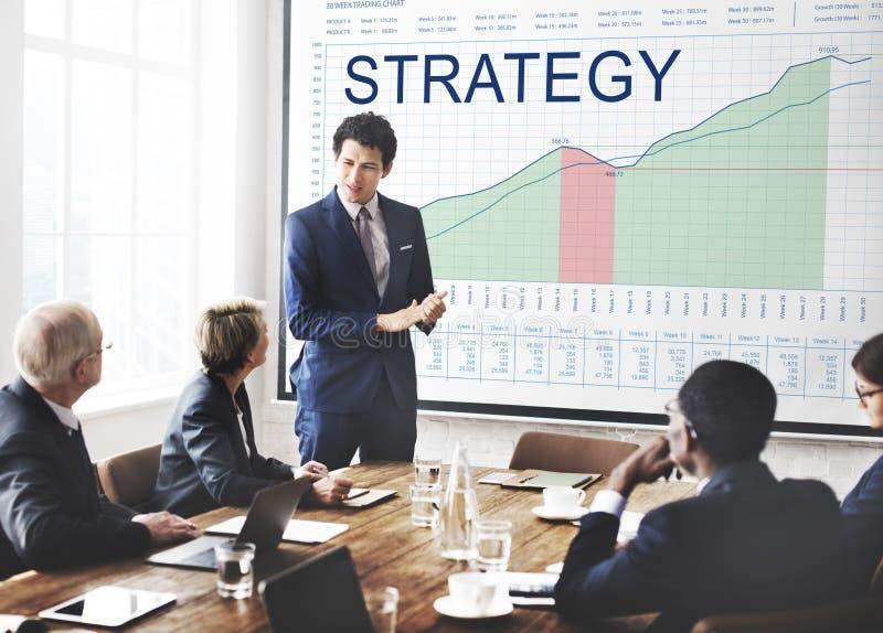 Conceito do sucesso comercial da visão do planeamento da análise da estratégia fotografia de stock royalty free