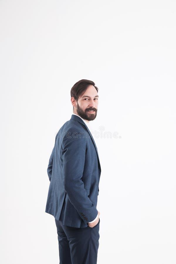 Conceito do sucesso comercial - um retrato no perfil de uma confiança imagens de stock