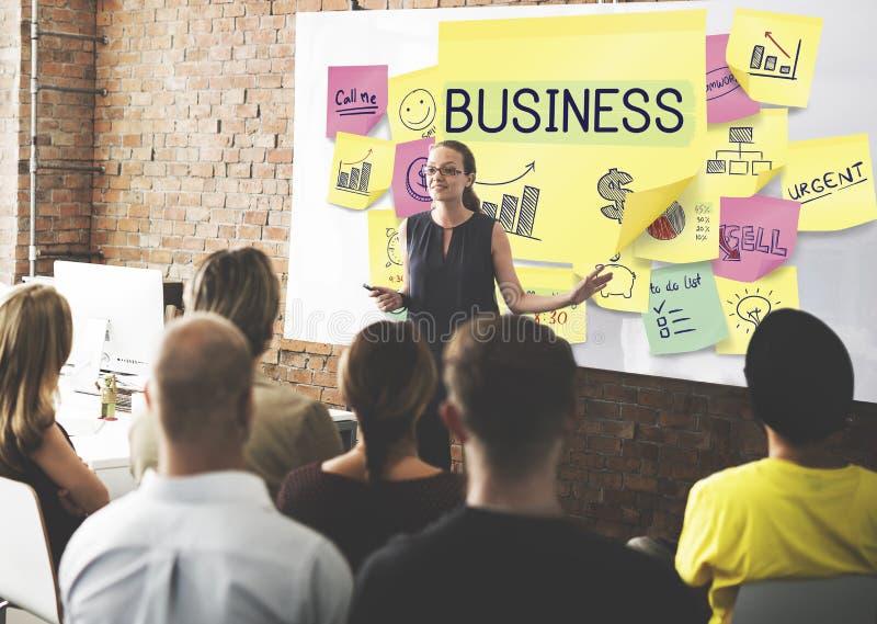 Conceito do sucesso do crescimento da estratégia de marketing do plano de negócios imagem de stock royalty free