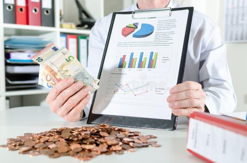 Conceito do sucesso financeiro fotografia de stock