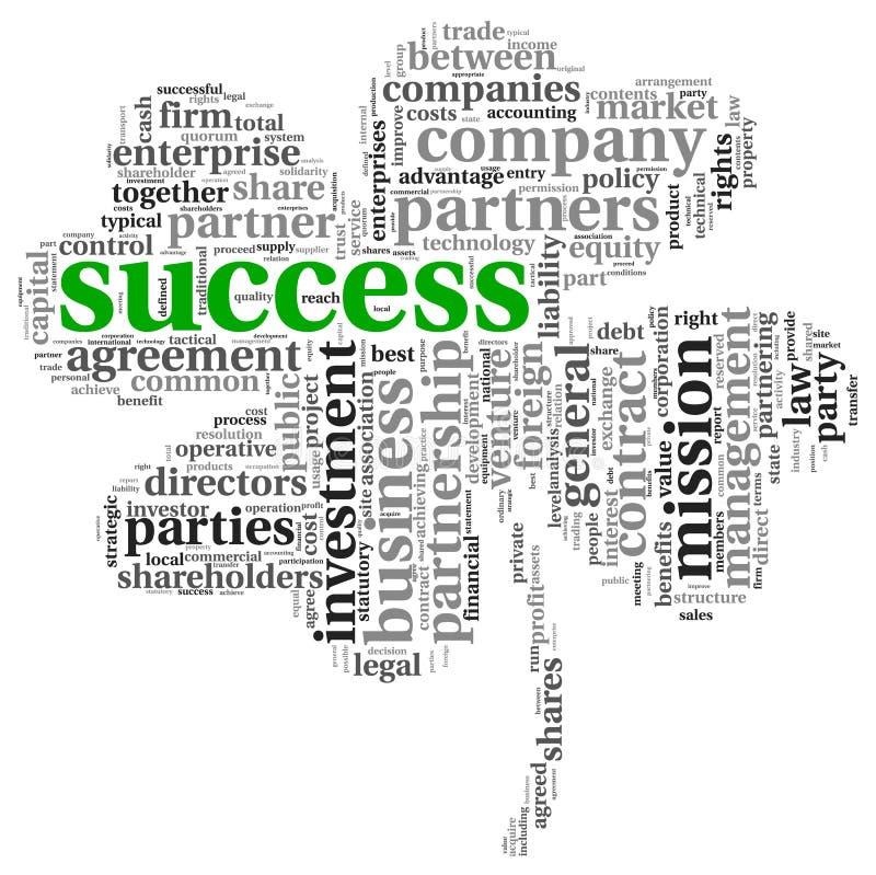 Conceito do sucesso na nuvem da etiqueta ilustração royalty free