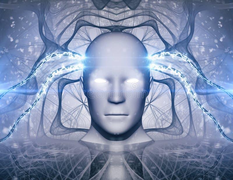 Conceito do sumário da inteligência artificial do AI ilustração stock