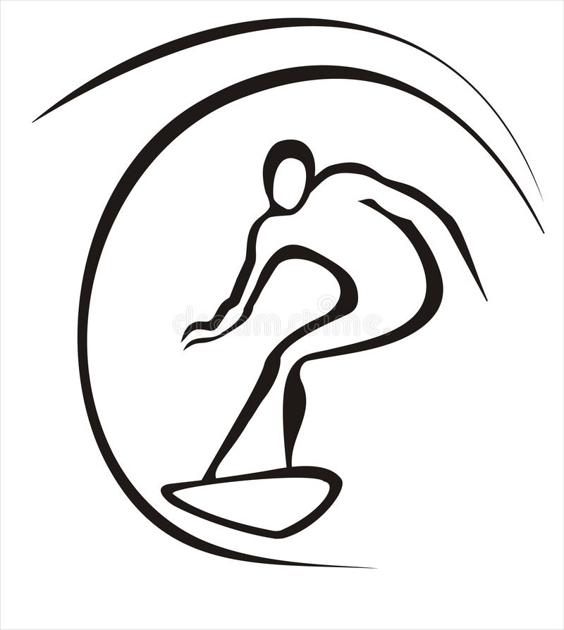 Conceito do surfista ilustração royalty free