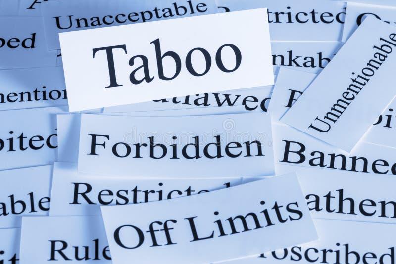 Conceito do tabu foto de stock