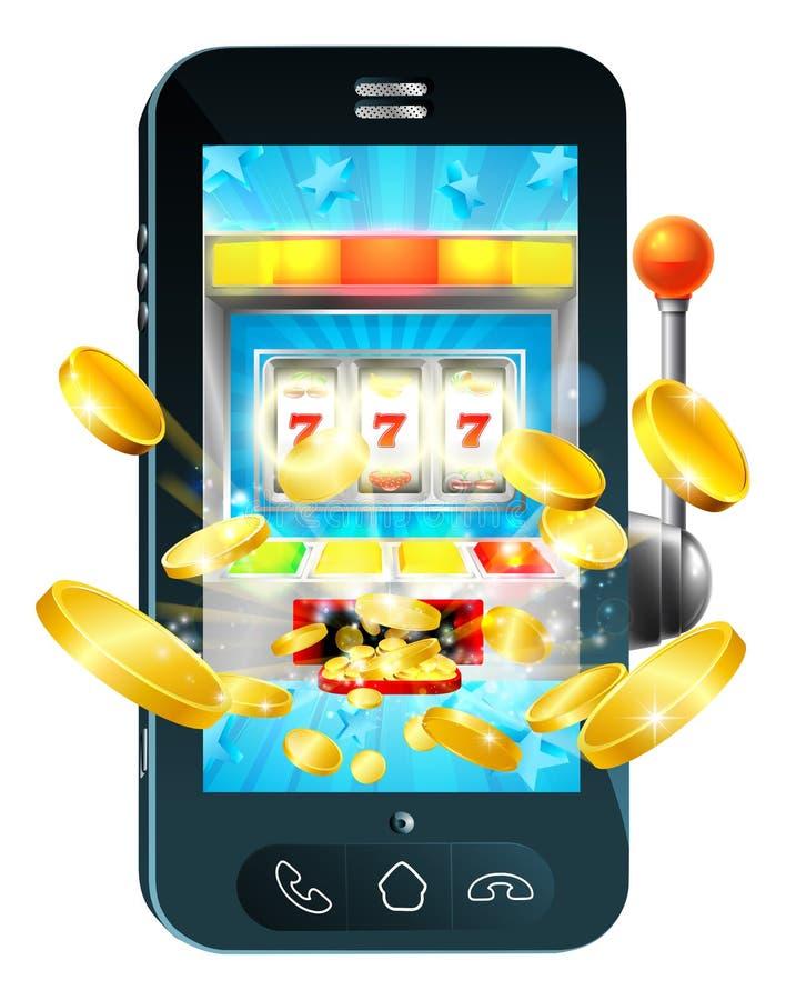 Conceito do telefone celular da máquina de fruto ilustração royalty free