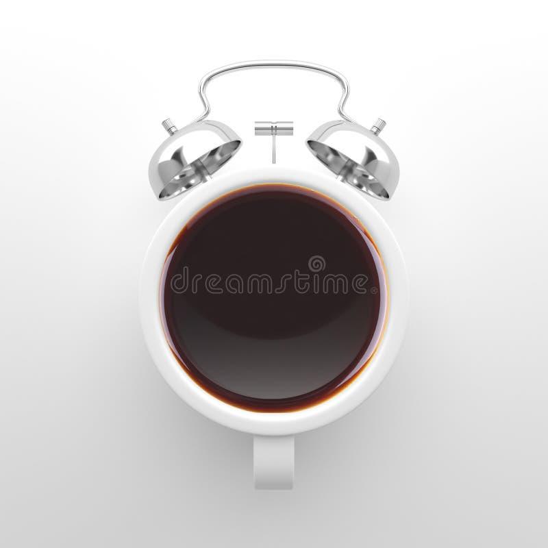 Conceito do tempo do café ilustração do vetor