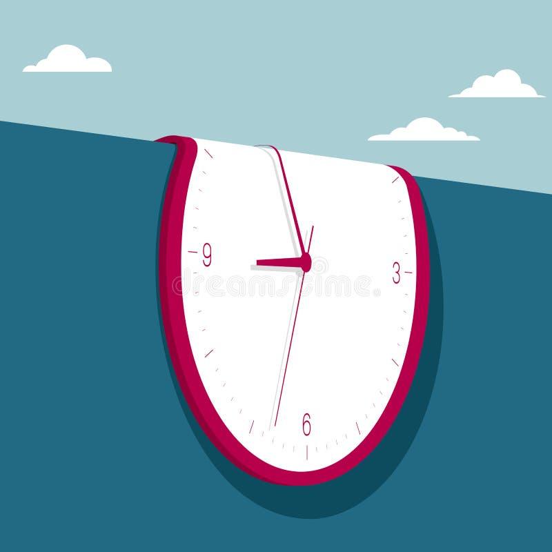 Conceito do tempo, morphing clock ilustração do vetor