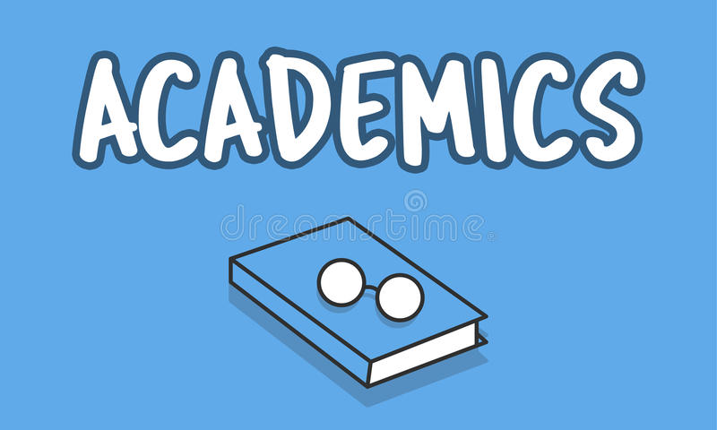 Conceito do termo da educação dos estudos dos Academics ilustração do vetor