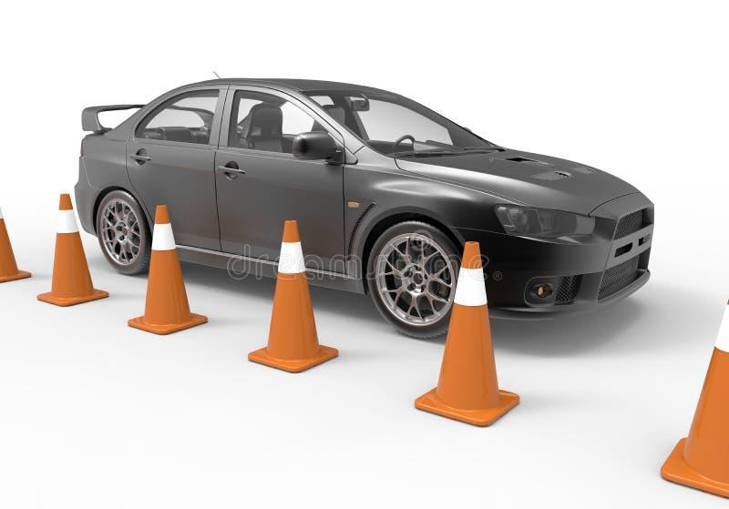 Conceito do teste de condução ilustração do vetor