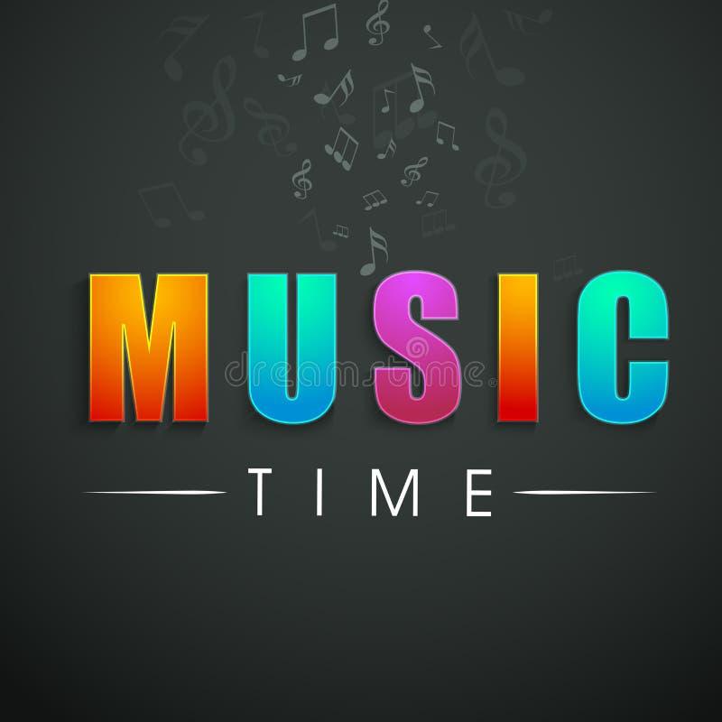 Conceito do texto à moda do tempo da música ilustração stock