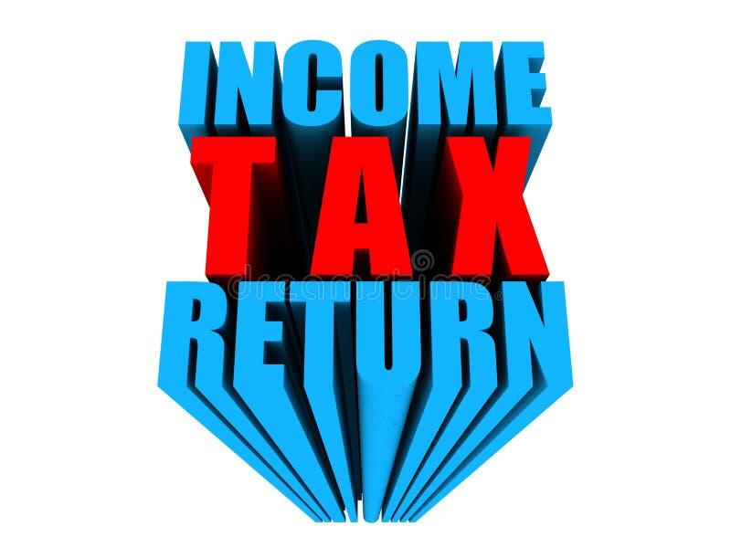 Conceito do texto da declaração de rendimentos 3d da renda fotografia de stock royalty free