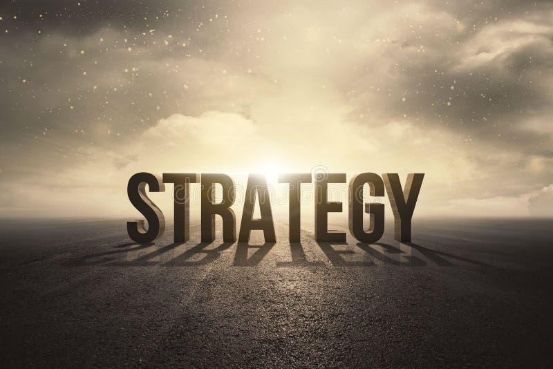 Conceito do texto da estratégia ilustração royalty free