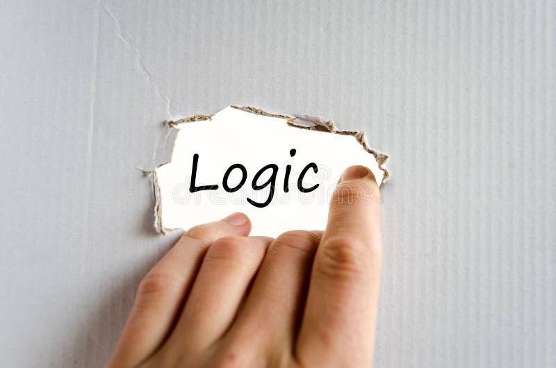 Conceito do texto da lógica fotografia de stock
