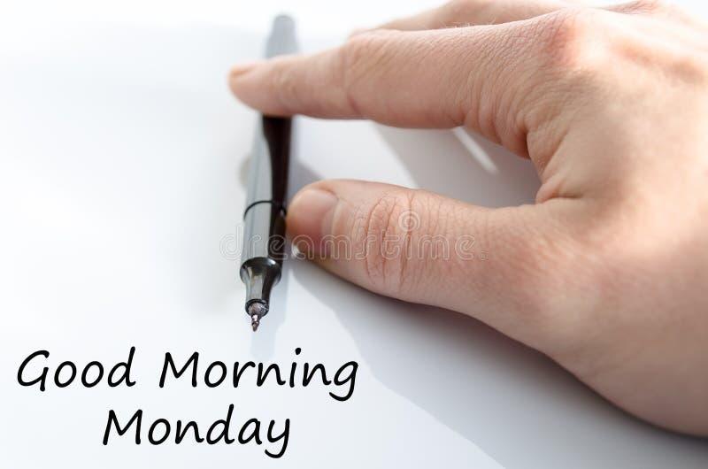 Conceito do texto de segunda-feira do bom dia imagem de stock
