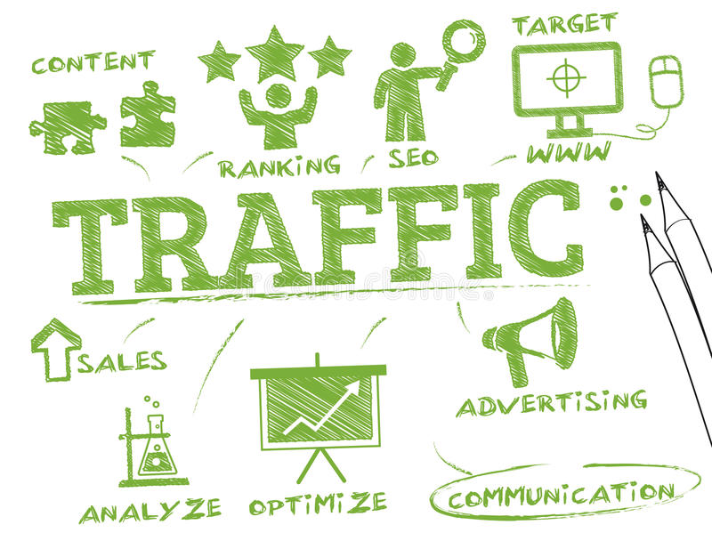 Conceito do tráfego ilustração do vetor