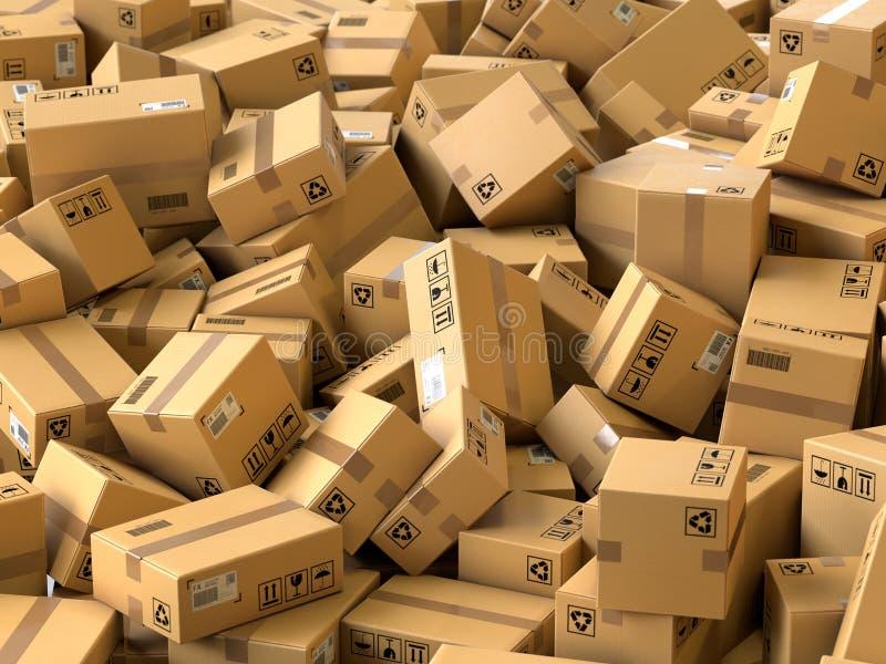 Conceito do transporte e da logística ilustração stock