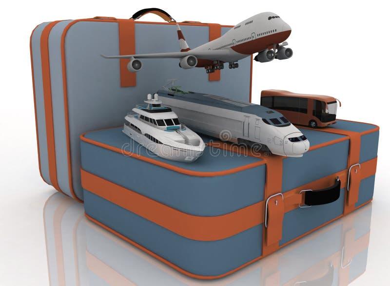 Conceito do transporte para viagens ilustração stock