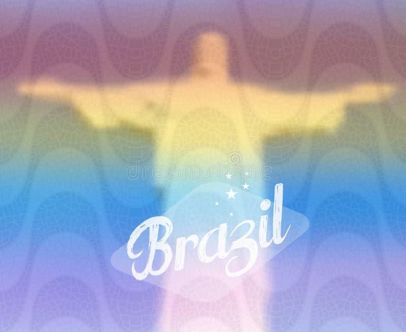 Conceito do turismo do monumento de Brasil ilustração do vetor