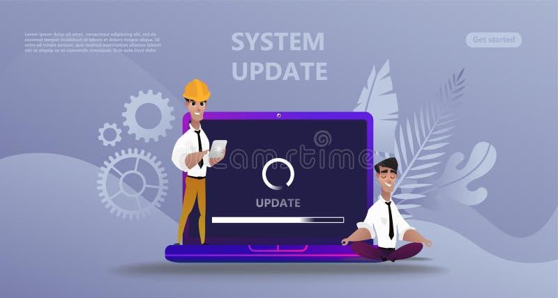 Conceito do upgrate do sistema da atualização da manutenção ilustração stock