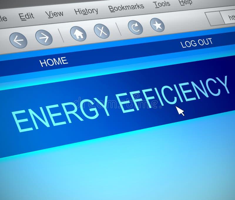 Conceito do uso eficaz da energia ilustração do vetor