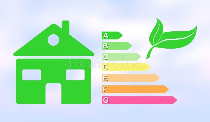 Conceito do uso eficaz da energia da casa ilustração royalty free