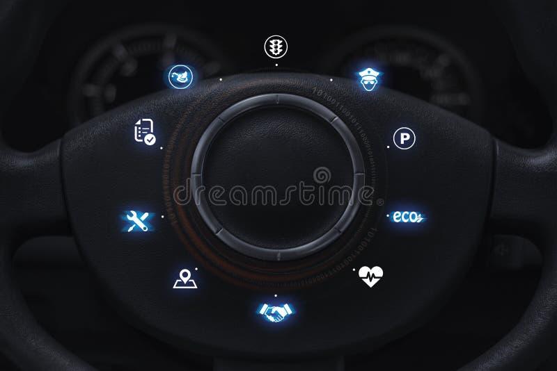 Conceito do usuário do automóvel ilustração stock