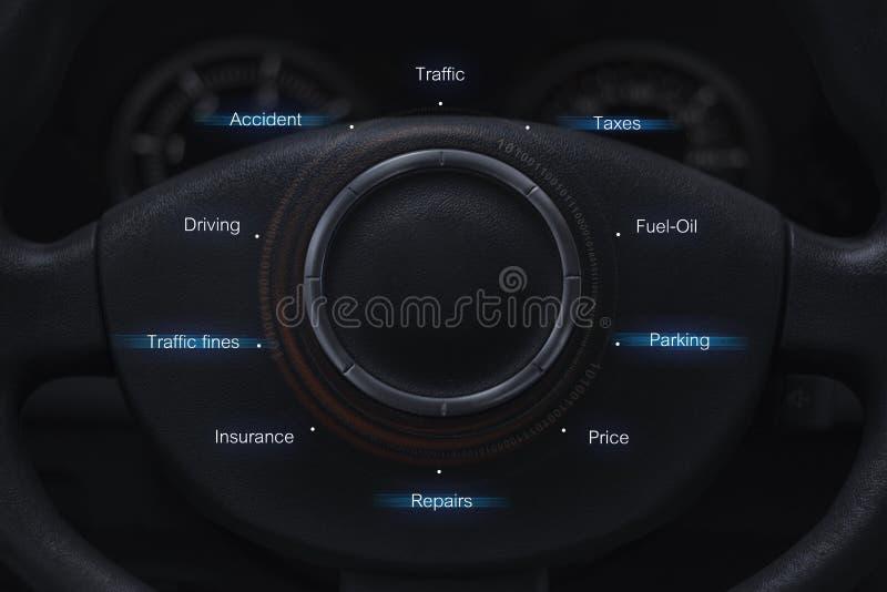 Conceito do usuário do automóvel fotografia de stock