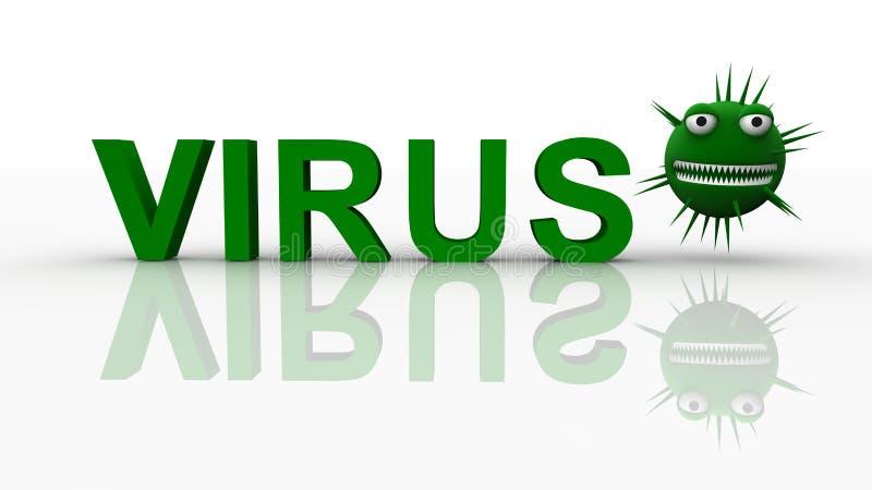 Conceito do vírus ilustração do vetor