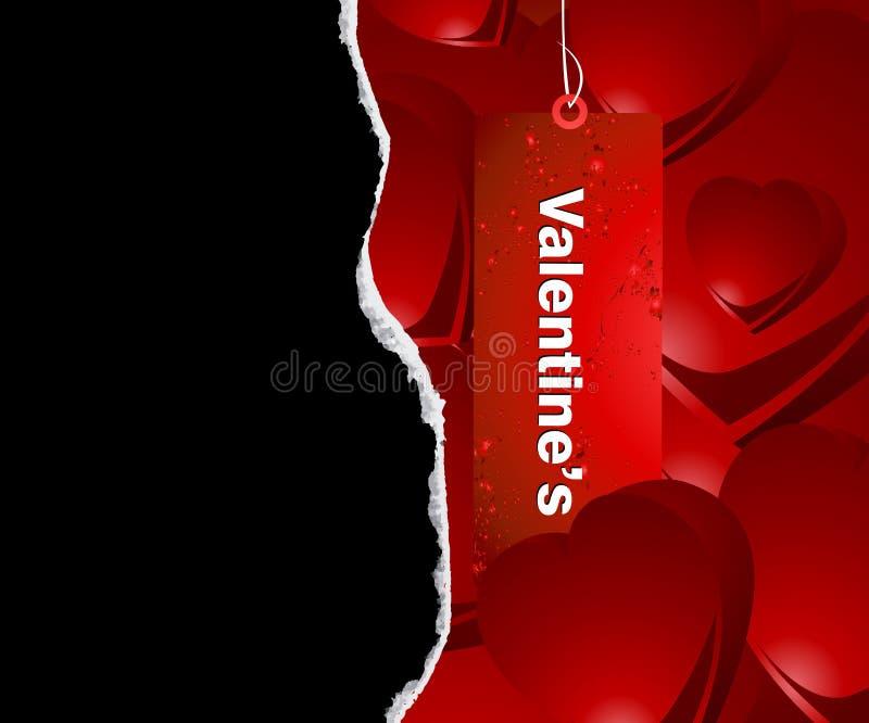Conceito do Valentim ilustração stock