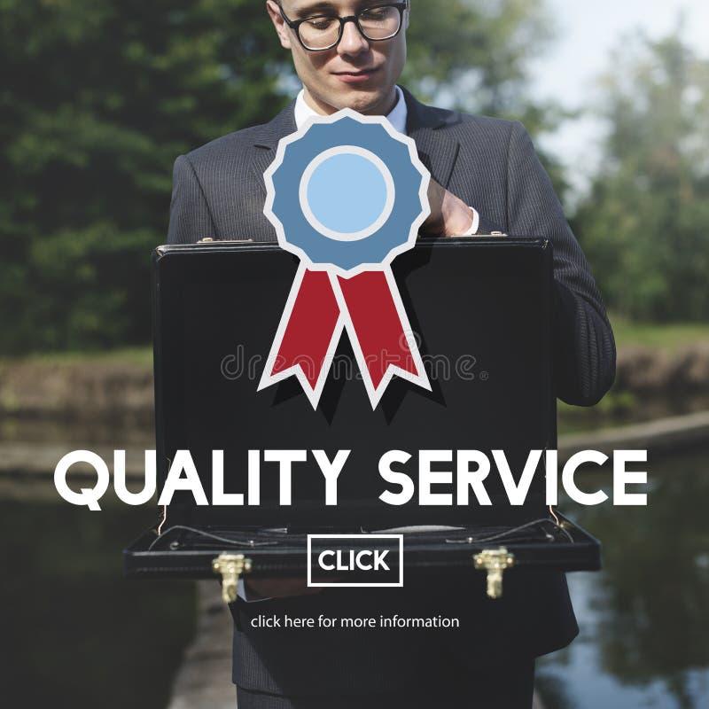 Conceito do valor da garantia do serviço de qualidade o melhor imagem de stock