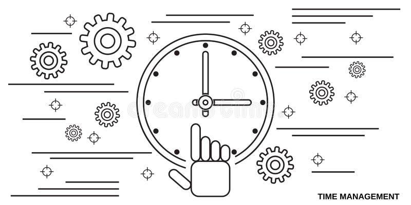 Conceito do vetor da gestão de tempo ilustração royalty free