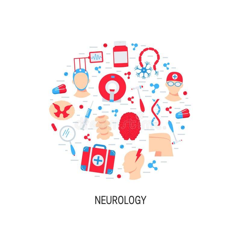 Conceito do vetor da neurologia ilustração royalty free