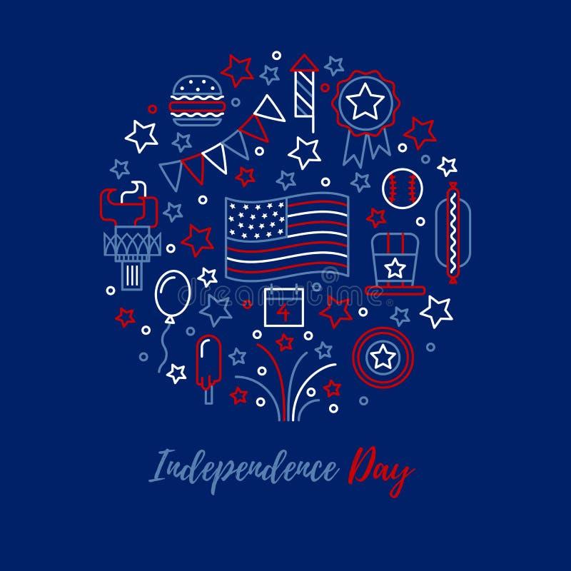 Conceito do vetor do Dia da Independência ilustração stock